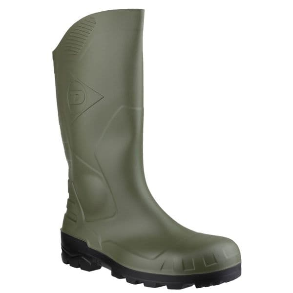 Dunlop Devon Safety Wellingtons Green / Black
